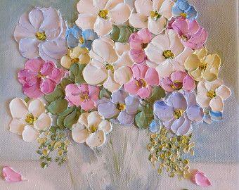 Tulip Oil Painting Impasto Painting Custom Tulip Original Painting Spring Wedding Home Decor Custom Oil Painting Flower Painting Flower Art