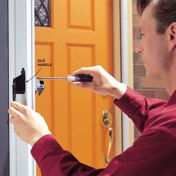How To Fix Your Broken Storm Door Handles Storm Door Handle Screen Door Handles Door Handles