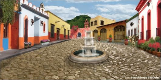 Backdrops Mexican Village 1 Backdrops House Styles