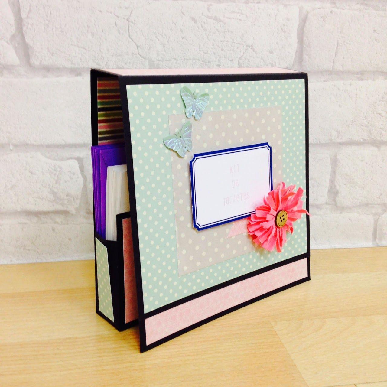Scrapbook ideas tutorial - C Mo Hacer Una Caja Para Guardar Tarjetas Tutorial Scrapbook