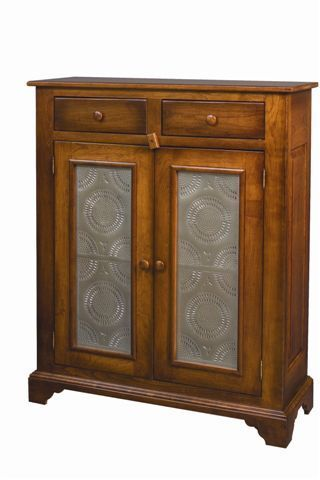 AMISH Unfinished Solid Pine ~ TALL PANTRY JELLY Storage Cabinet Pie-safe