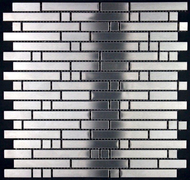 Mosaik Fliesen Aus Edelstahl Mimxt Länge Cm - Fliesen 80 x 30