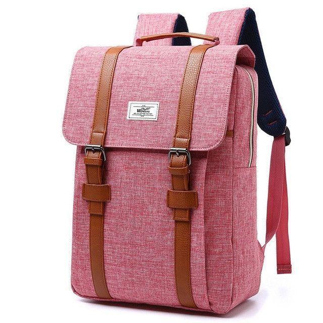 cc948bff64d1 2017 Vintage Men Women Canvas Backpacks School Bags for Teenagers Boys Girls  Large Capacity Laptop Backpack Fashion Men Backpack