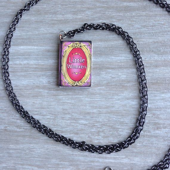 Little Women Book Charm Necklace by TheBlueDodo