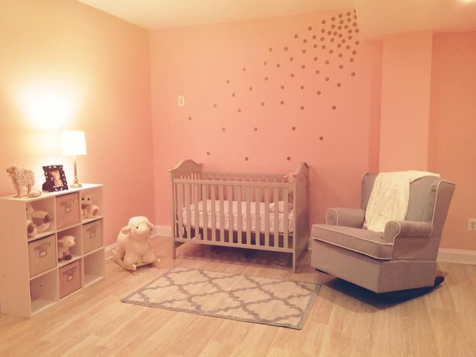 Lamb Themed Pink Grey And Gold Nursery Loved How It