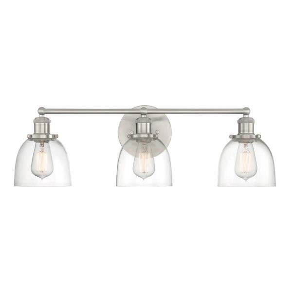 Brushed Nickel Vanity Light, Modern Bathroom Light Fixtures Brushed Nickel