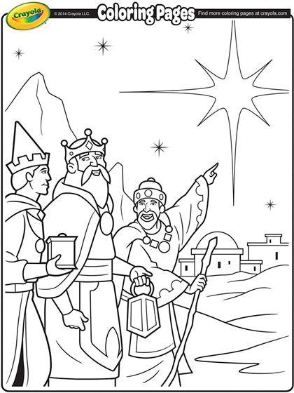 Three Kings On Crayola Com Christmas Coloring Pages Nativity Coloring Pages Coloring Pages