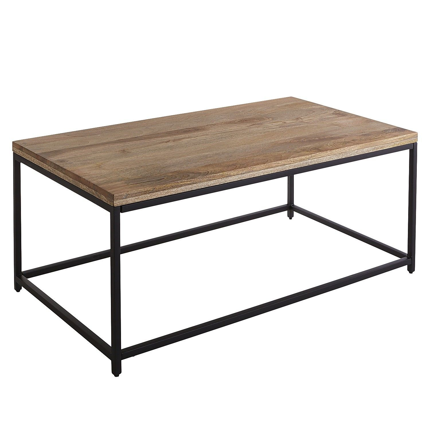 takat natural mango wood coffee table rustic industrial