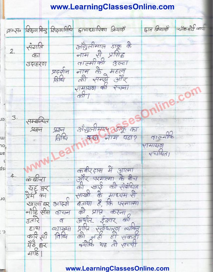 Hindi Lesson Plan Class 6 In 2021 How To Plan Lesson Hindi [ 1090 x 854 Pixel ]