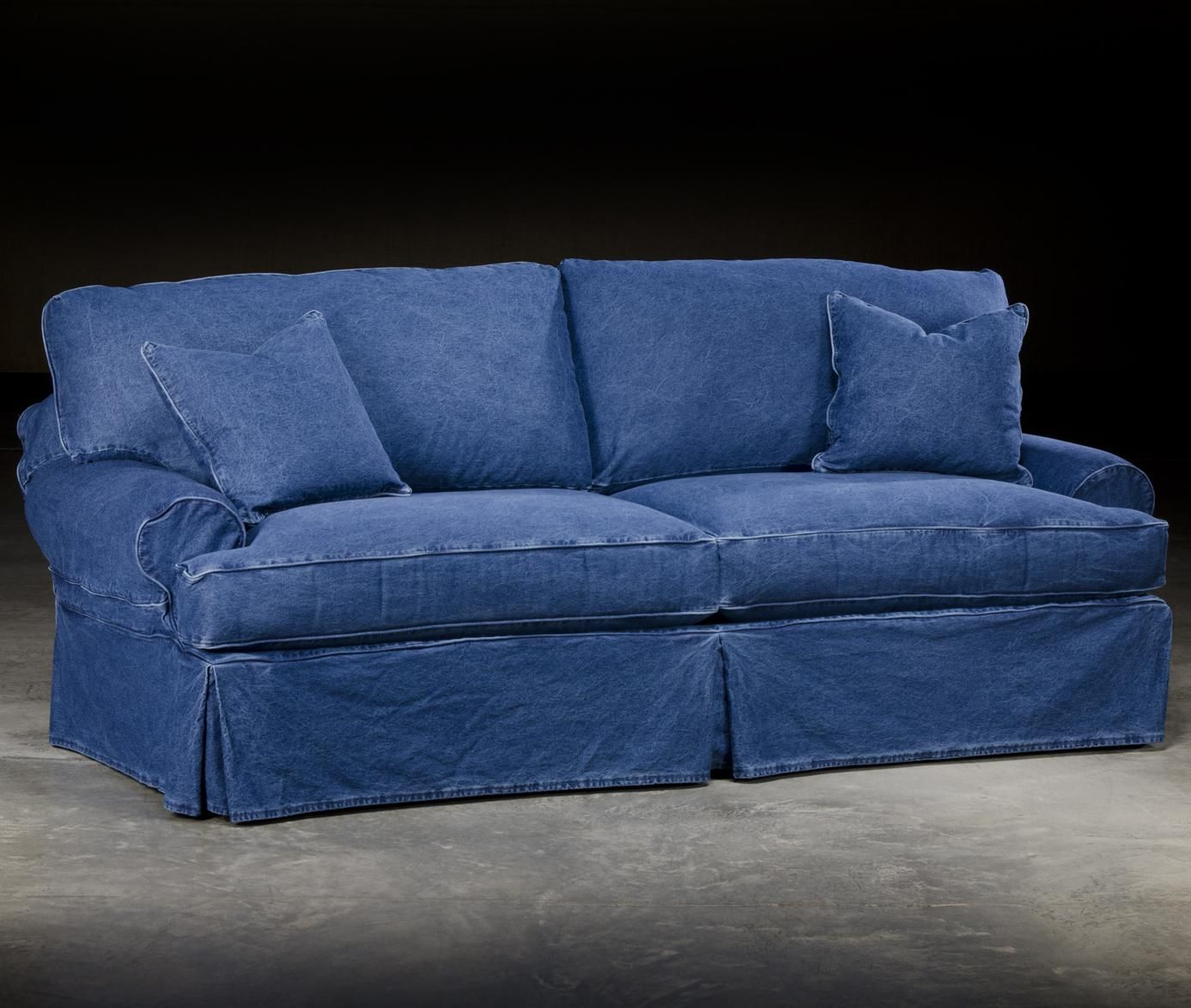 Dean Sofa By Paul Robert Have One Wore It Completely Out Want Another One Most Comfortable Piece Of Furniture Eve Denim Couch Denim Sofa Blue Couch Covers