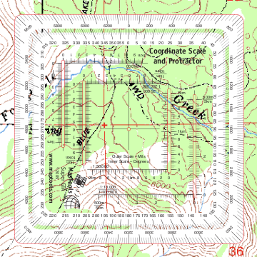 Compass Map Tools Improved Military Style UTMMGRS Coordinate Scale - Mgrs maps for sale