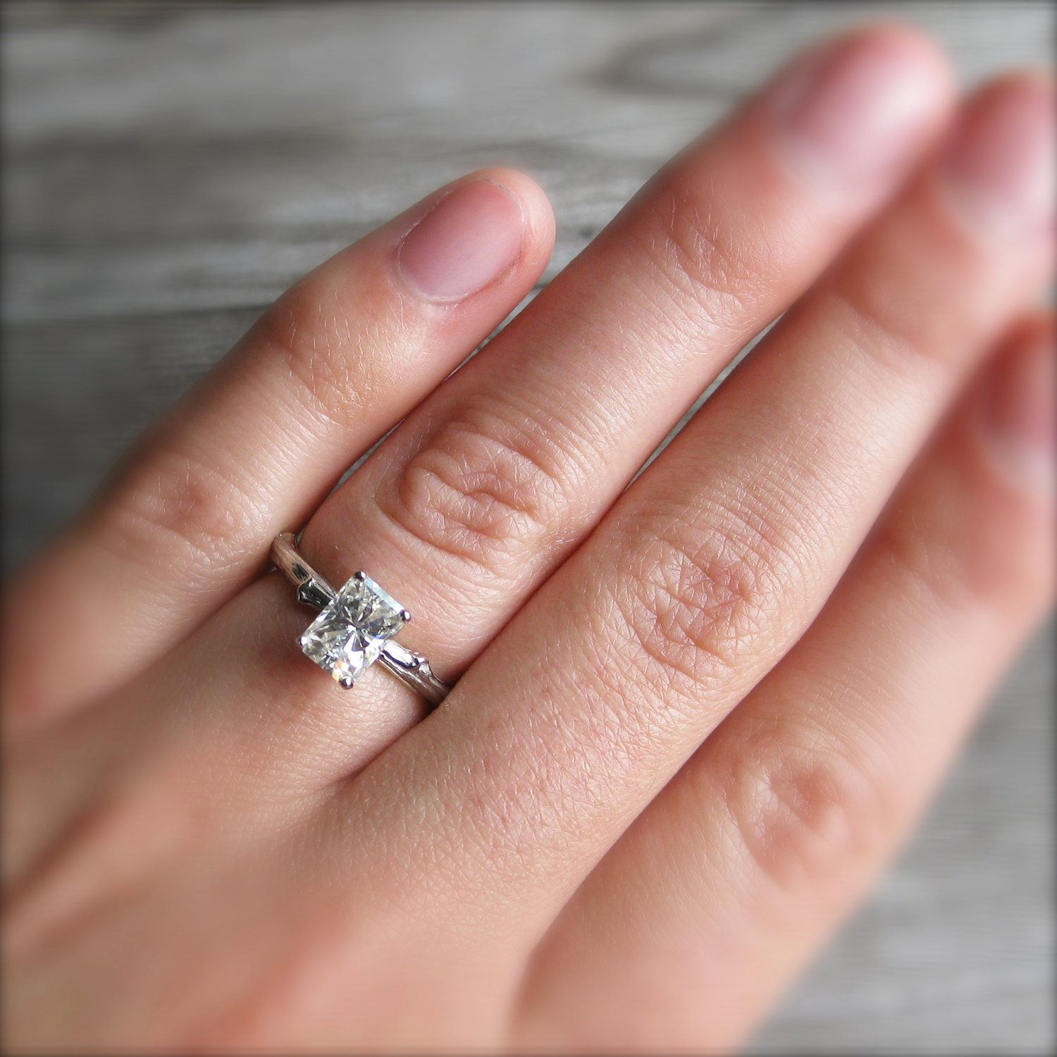 twig rings wedding bands tree fresh lab etsy swarovski branch ring set of engagement