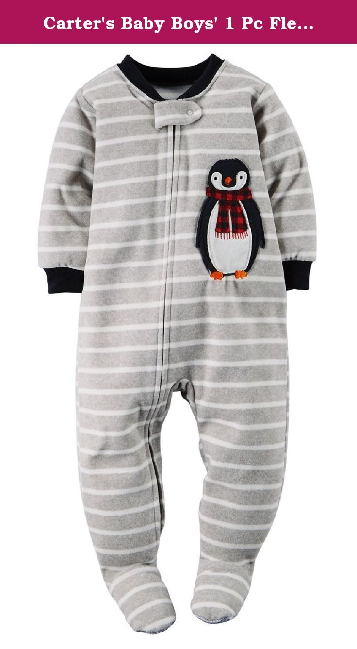 aa0b75c63e03 Carter s Baby Boys  1 Pc Fleece Footed Sleeper Pajamas (12 Months ...