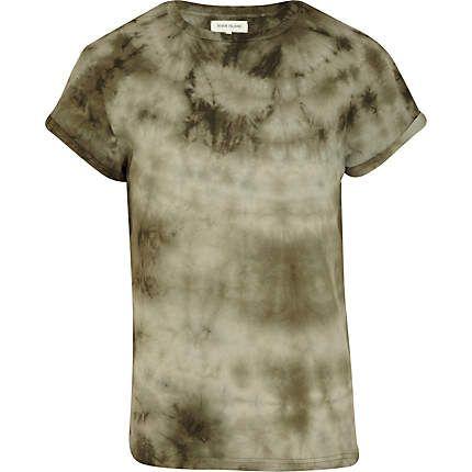 Green tie dye crew neck t-shirt - print t-shirts - t-shirts / vests - men