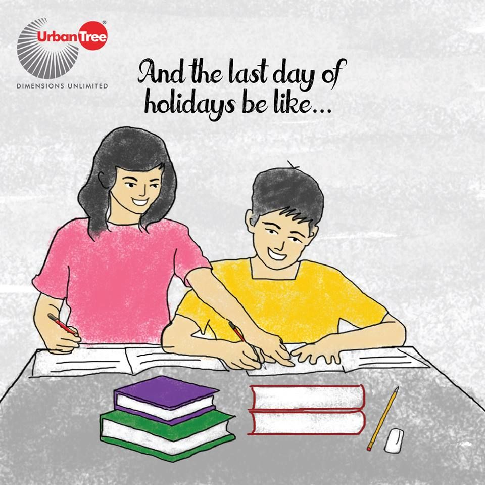 After killing two months of vacation holidays, only the day before going to school we will get reminded of all the holiday homework that is pending. Sit together with siblings, parents and take all the help around us to finish our holiday homework.