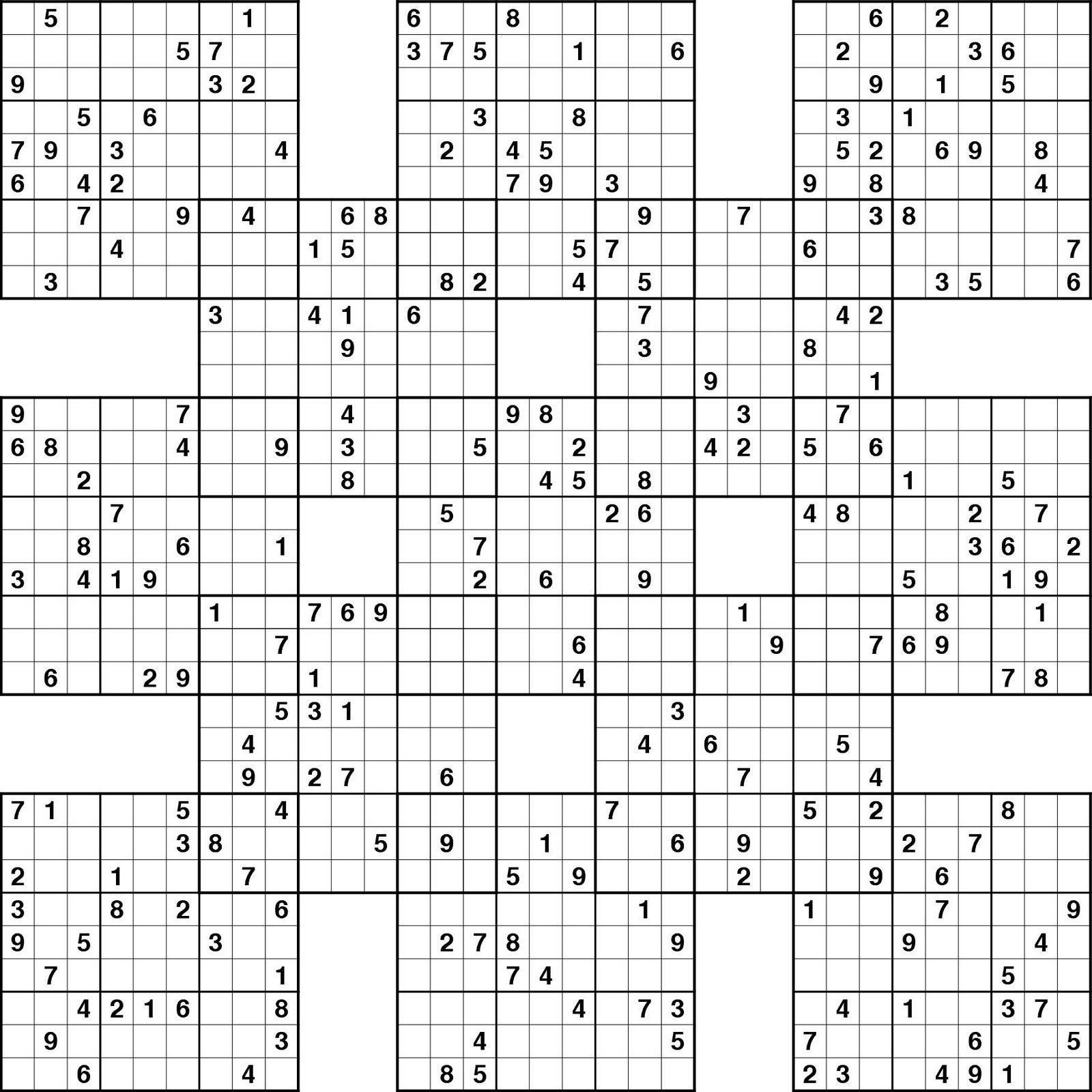 Sudoku High Fives Hard