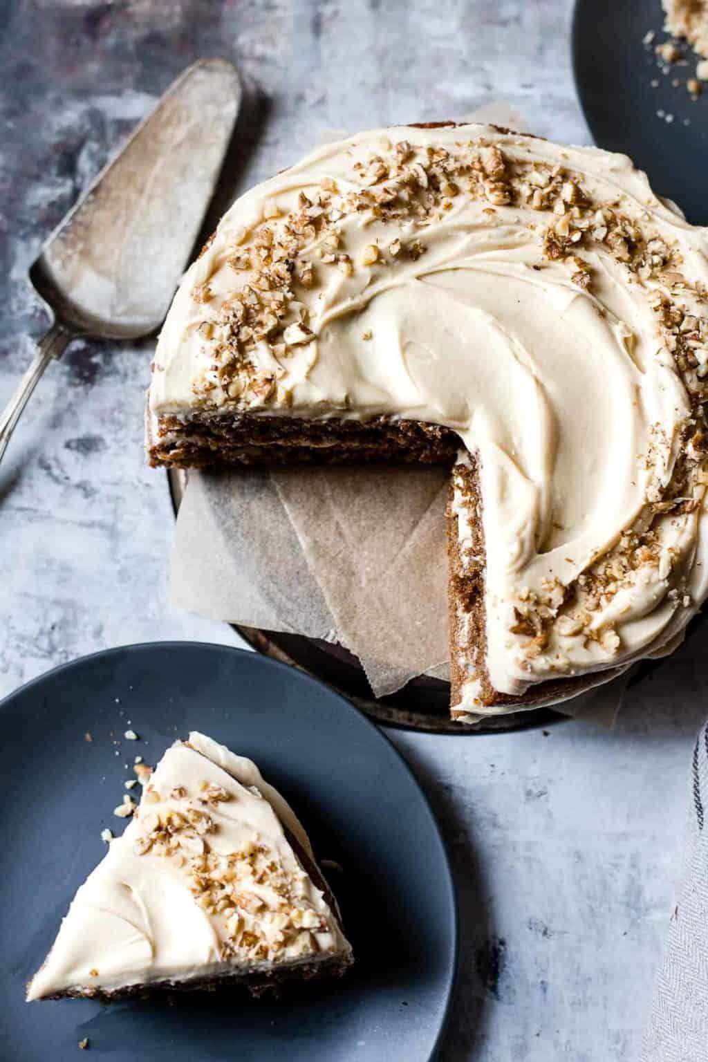 Soft and fluffy coffee walnut cake Recipe in 2020