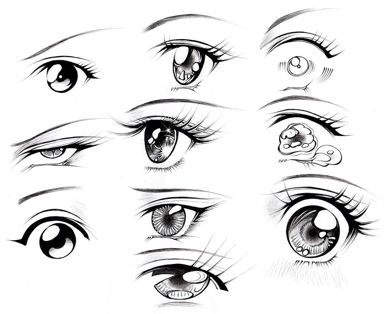 Kanji de Manga Vol 3 cover image Eye drawing, Anime eyes
