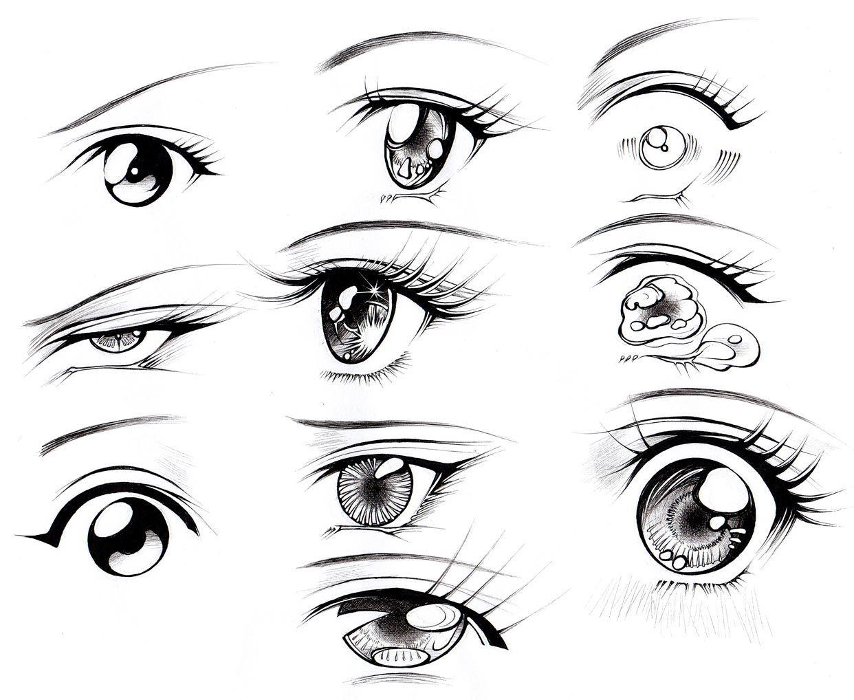 Kanji de Manga Vol 3 cover image Eye drawing, Anime eyes
