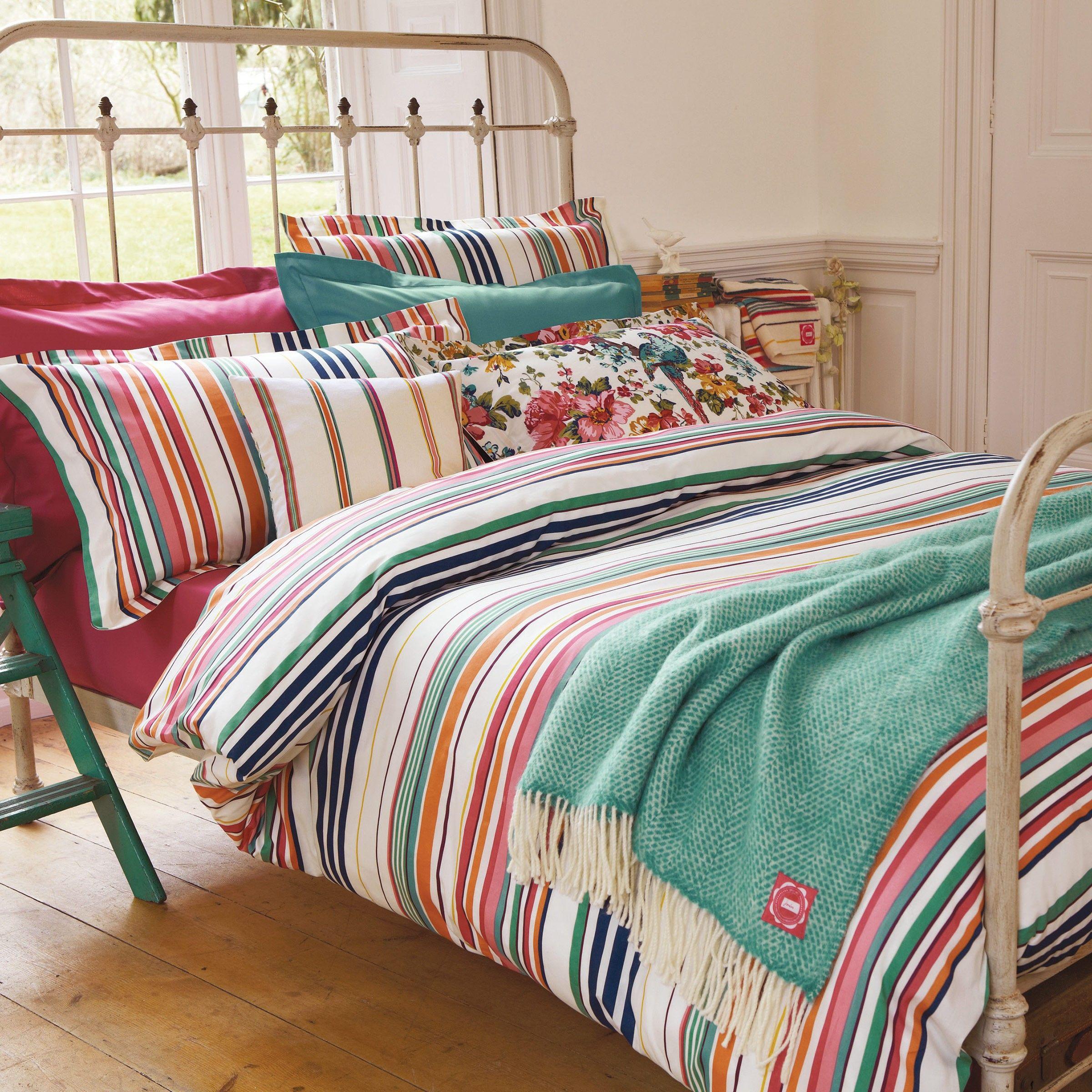 striped bed linen uk