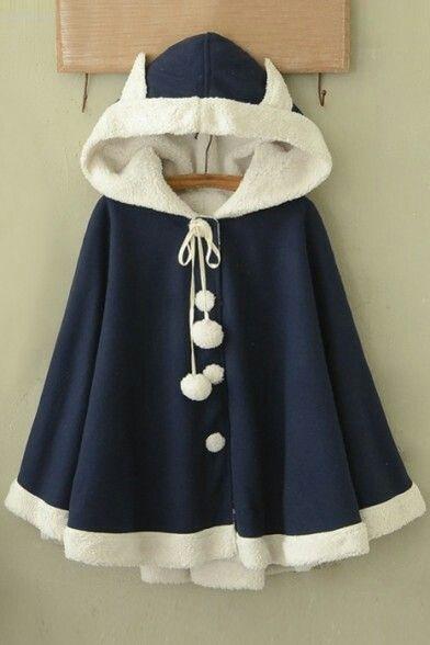 aa8d3a2905 Blue bunny ear cape