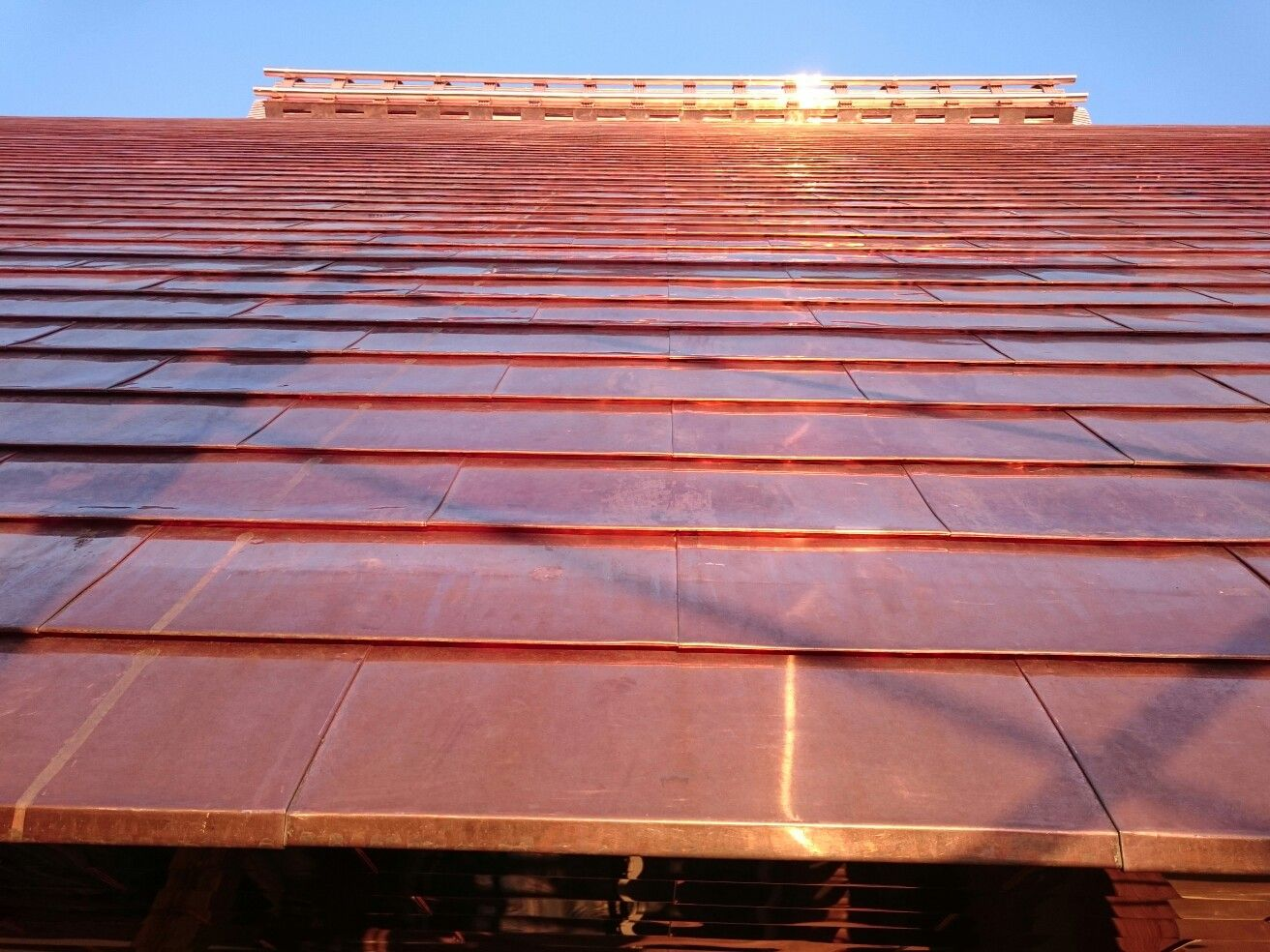 Copper Roof Of Japanese Temple Metal Roof Construction Copper Roof House Copper Roof