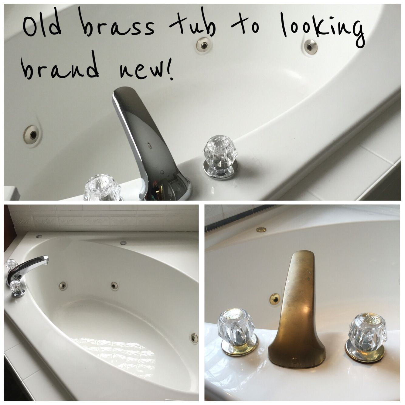 Get A Brand New Tub With A Little Elbow Grease And New Faucet I
