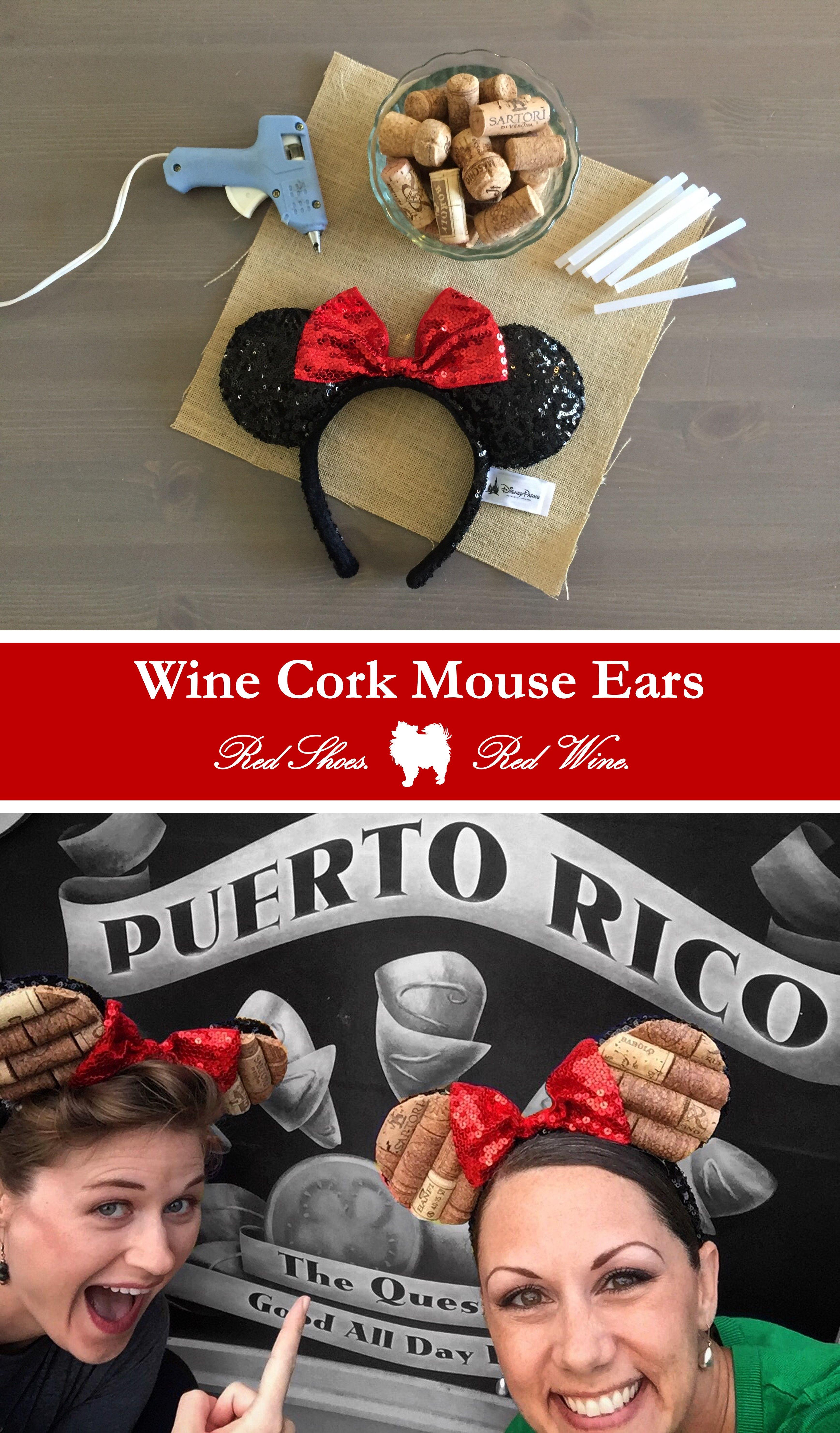 Wine Cork Mouse Ears Diy Diy Mickey Ears Disney Mickey Ears Minnie Ears Diy