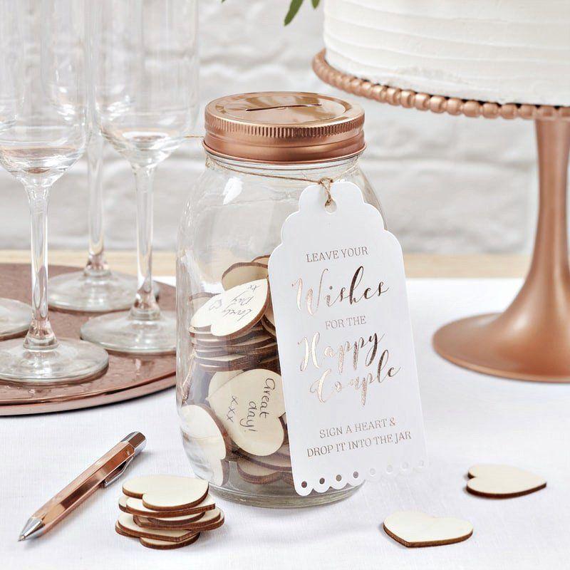 Simply Gorgeous Wedding Reception Ideas: Wishing Jar Alternative Guest Book, Wedding Reception