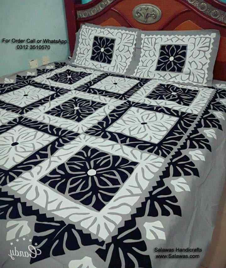 Applique Work Bed Sheet Best Designs Of Applique Items Available For Sale  At Wholesale Price, This Sindhi Traditional Aplic Work In Pakistan  #applique #bed ...