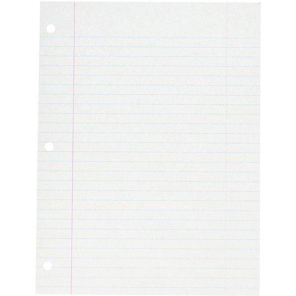 School Smart Three Hole Punched Filler Paper with Margin 8