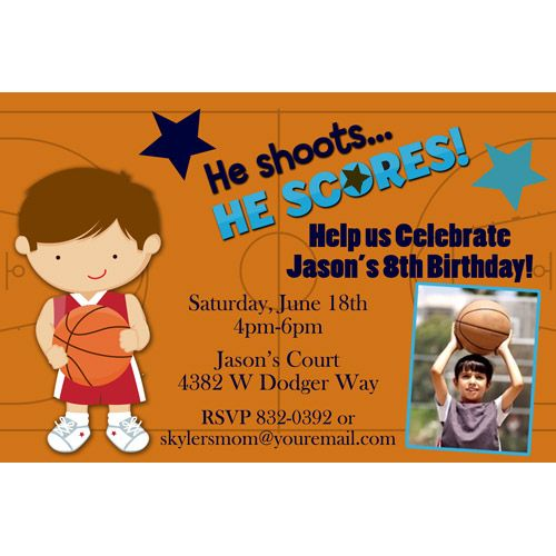 Download Basketball Birthday Invitations Ideas Download this