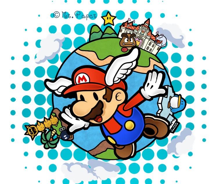 Super Paper Mario 64 By Mr Paper On Deviantart Paper Mario Mario Paper Mario 64