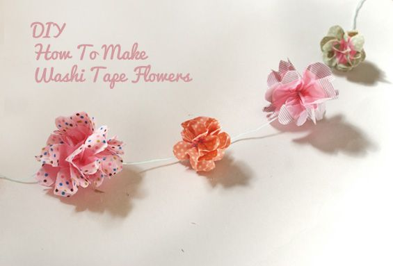 DIY: How To Make Washi Tape Flowers