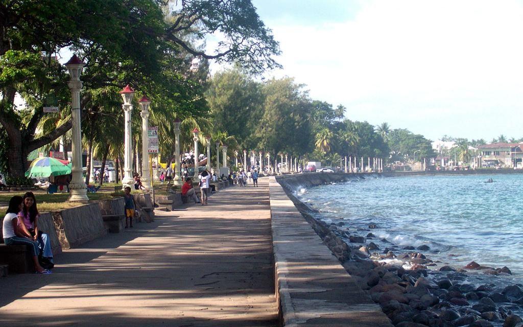 kanlaon volcano state park   Rizal Boulevard, Strandpromenada Dumaguete Negros