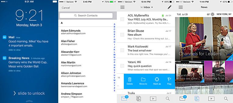 Aol mail for mobile aol mail news 9 mailing