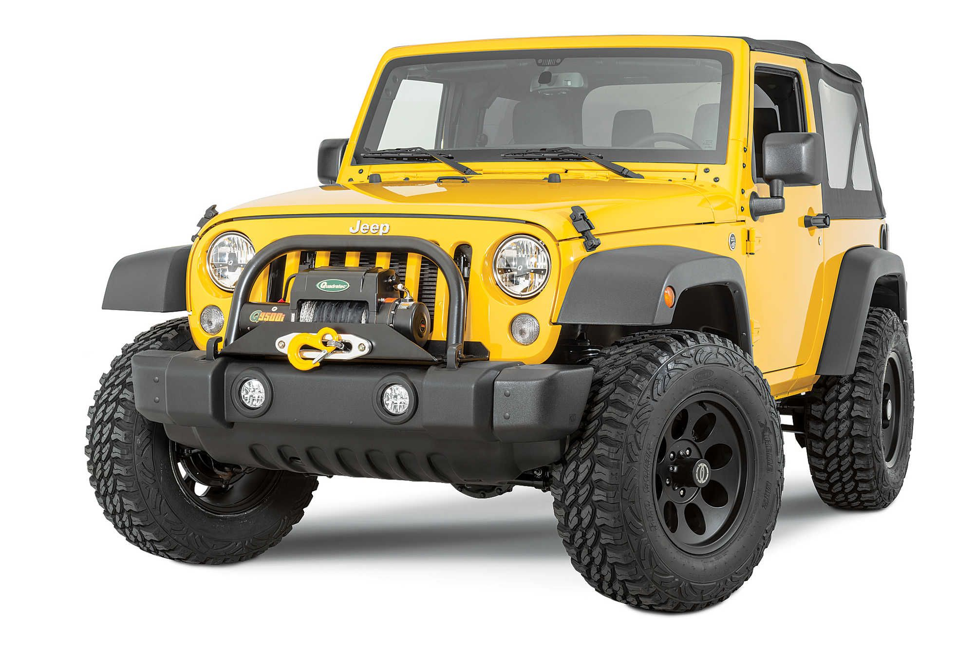 Vertically driven products 31555 stock bumper full width end cap conversion kit for jeep wrangler jk