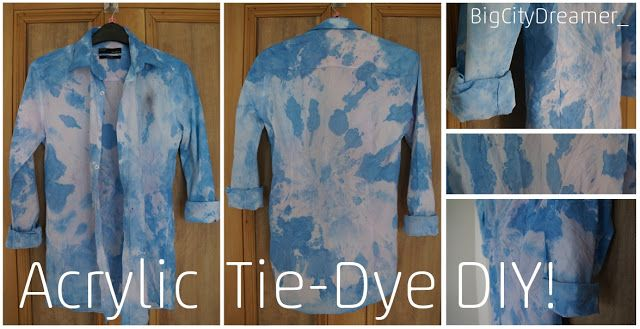 DIY Tie Die with Acrylic Paint: Back to the Sixties