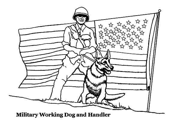 Working Dog And Handler In Military Coloring Pages Color Luna In 2020 Truck Coloring Pages Coloring Pages For Boys Bear Coloring Pages