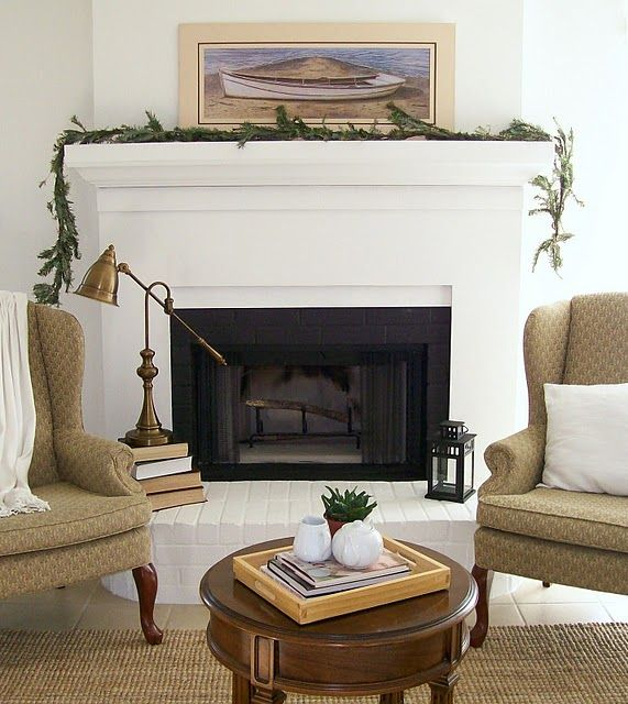 The Pear Tree Cottage: Fireplace Makeover With Details And Before And After  Pictures. Takes You Step By Step In How To Cover Up An Ugly Brick Fireplace