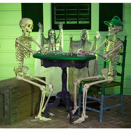 Halloween Skeleton Poker Table Decorating Kit halloween