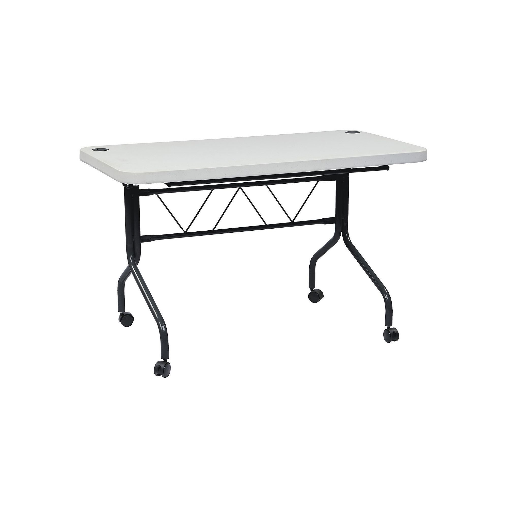 Office Star Products Work Smart Ft MultiPurpose Flip Table Grey - 4 ft office table