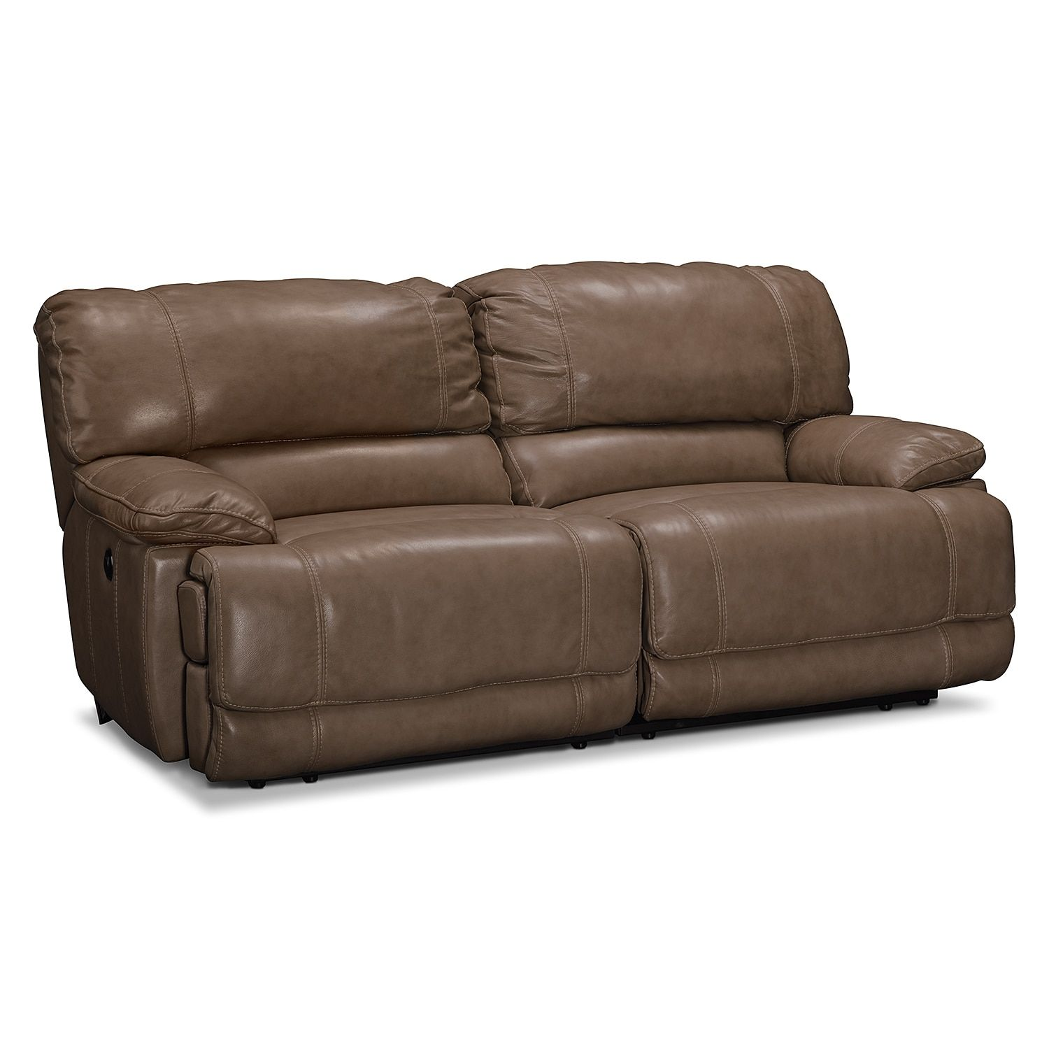 St Malo Power Reclining Sofa Taupe Reclining Sofa Taupe And  ~ Sofa Bed City Furniture