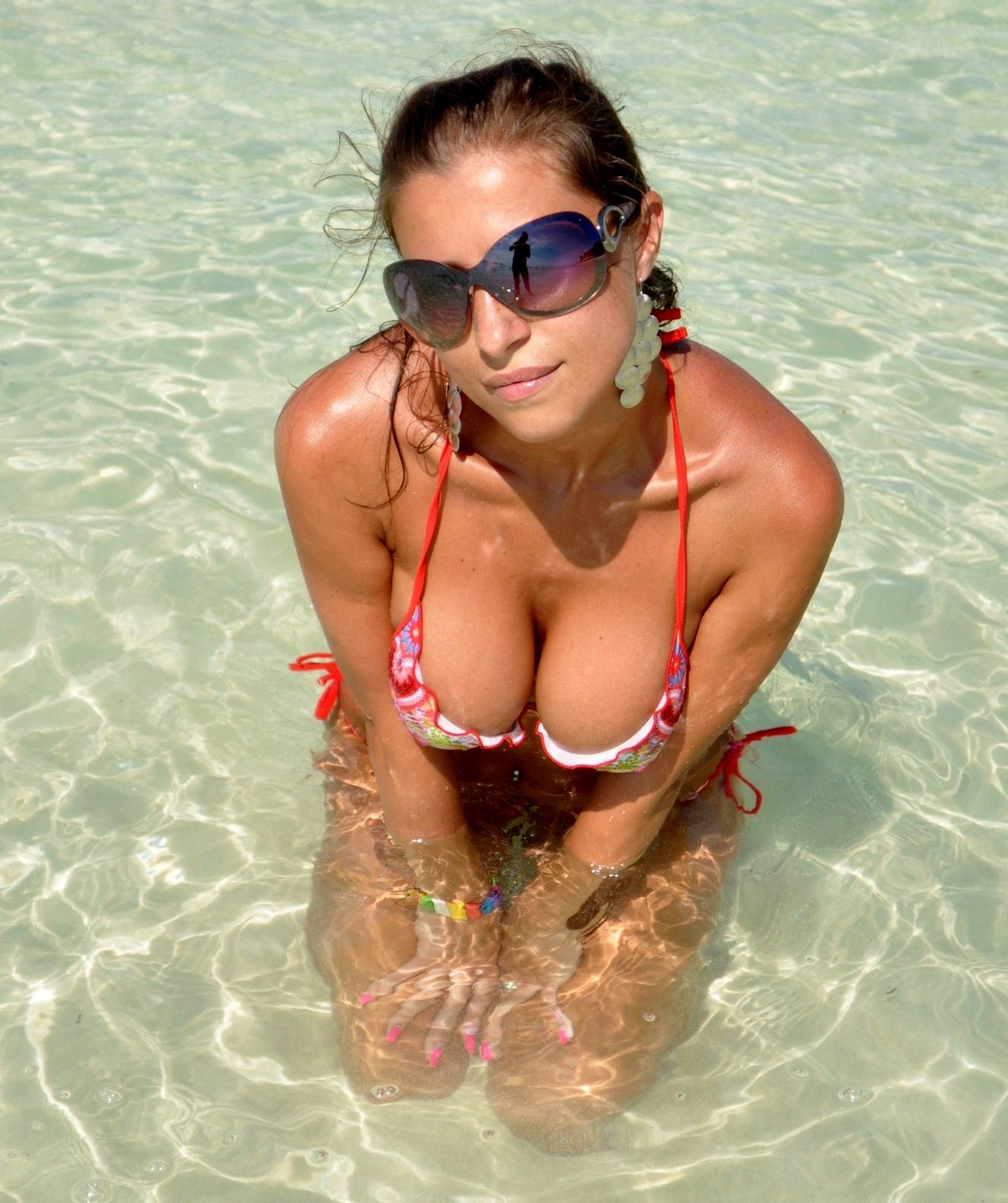 At girls beach the amateur Hot