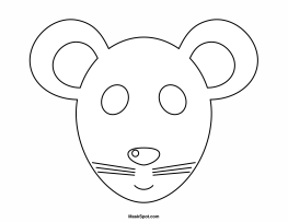 printable mouse mask to color summer homework pinterest - Mouse Pictures To Color
