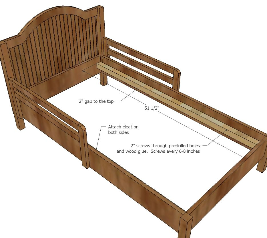 Traditional Wood Toddler Bed Building Plans