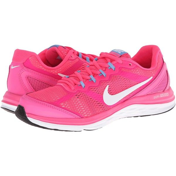 quality design a21bb d1ff7 Nike Dual Fusion Run 3 Women s Running Shoes, Pink ( 45) ❤ liked on  Polyvore featuring shoes, athletic shoes, pink, light weight shoes, pink  athletic shoes ...