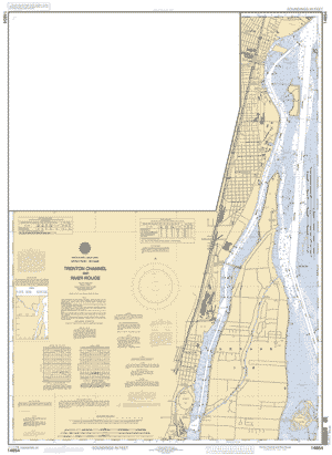 Rouge River Michigan Map.Detroit River Trenton Channel And River Rouge Nautical Chart Noaa