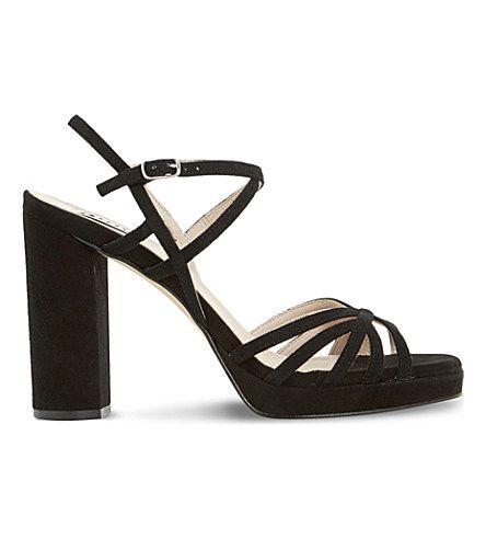 DUNE Magdalane Suede Block Heel Sandals. #dune #shoes #sandals
