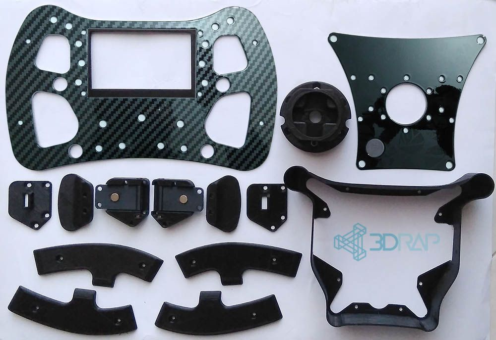 F1 Steering Wheel KIT by 3DRap - Thrustmaster Logitech and